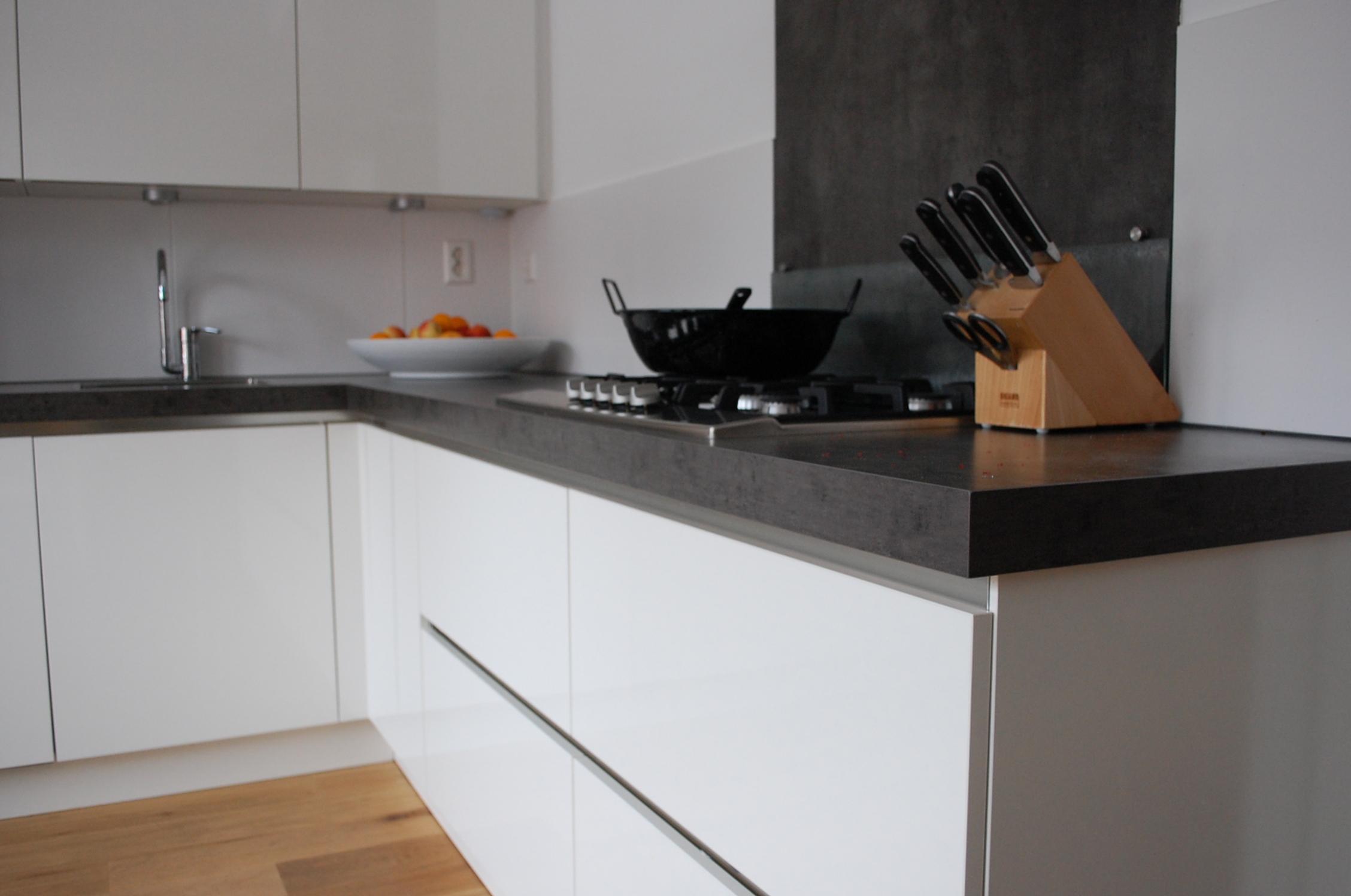 Strakke Witte Keuken : Strakke witte keuken