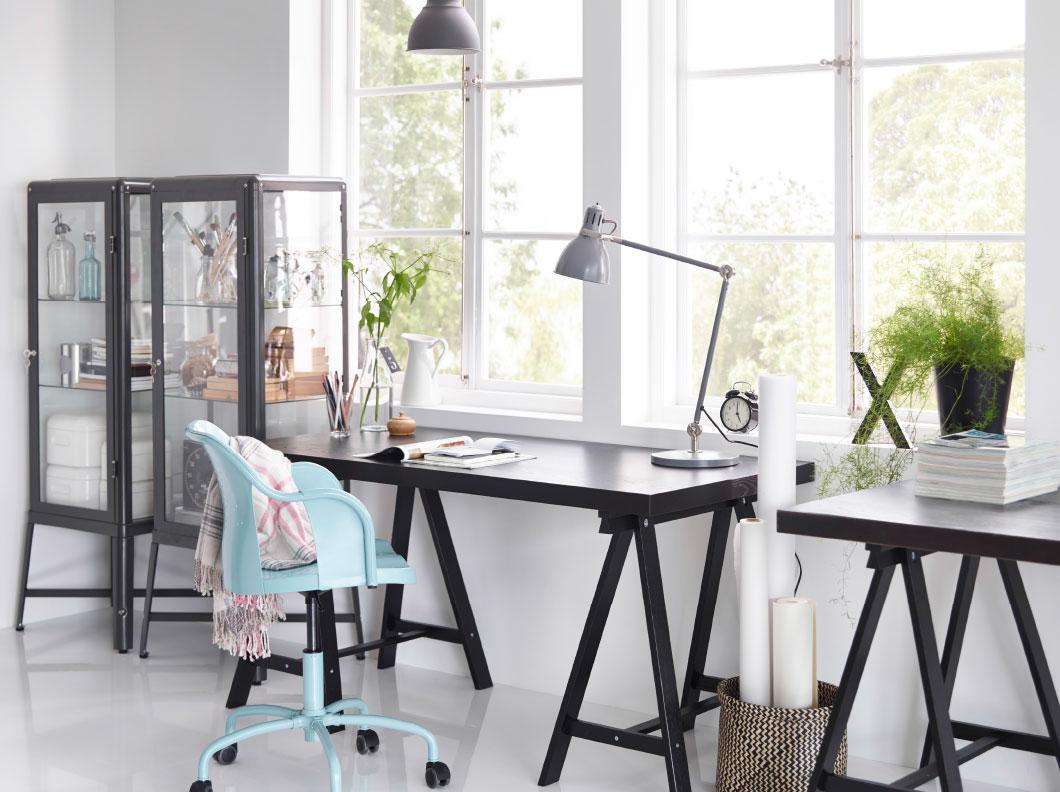 De nieuwe werkplek van finn met ikea bureau lillÅsen lady lemonad