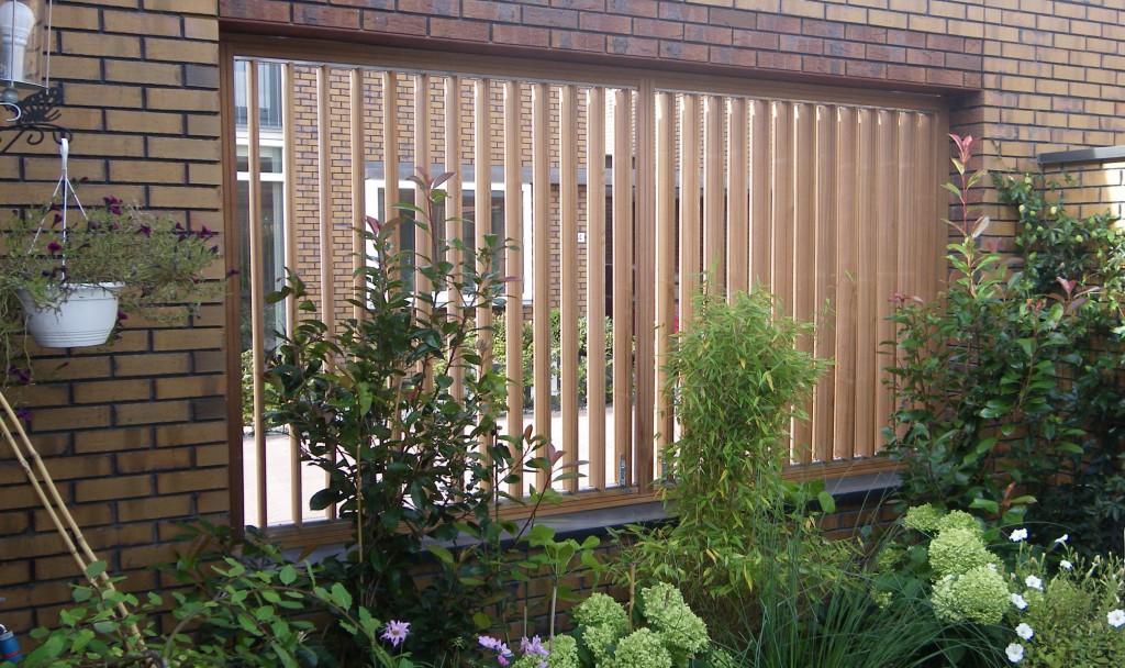 flex fence verstelbaar tuinscherm louvre scherm verstelbare doorkijk schutting