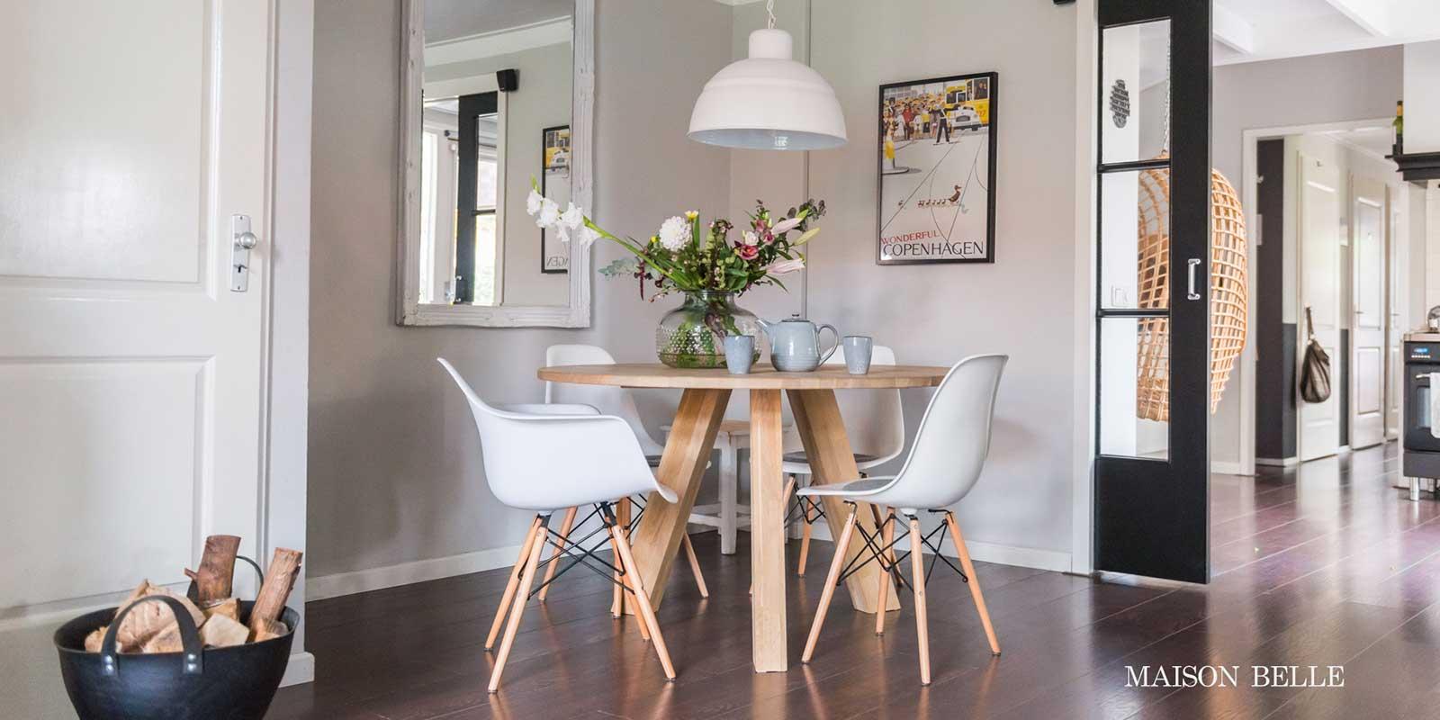 Eethoek Met Ronde Tafel.Interieur Inspiratie Ronde Eettafel Maison Belle
