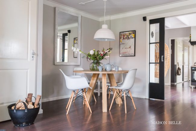 interieur inspiratie ronde eettafel maison belle