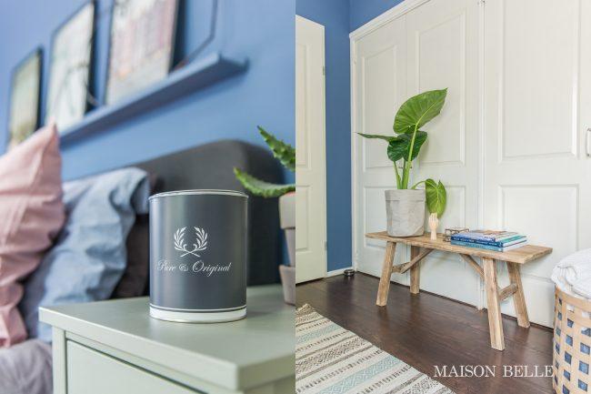 Pastel Blauw Slaapkamer : Slaapkamer makeover met blauwe muren maison belle interieuradvies