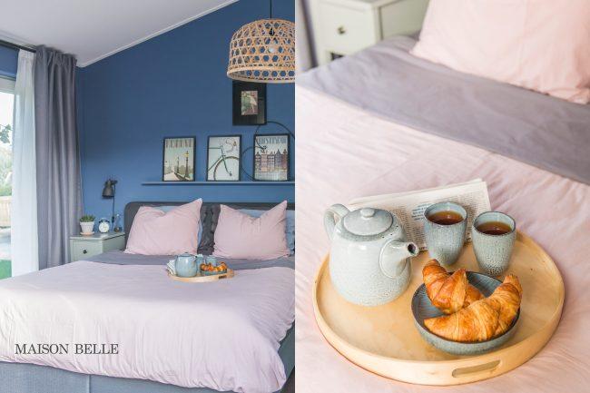 Slaapkamer Inrichten Blauw : Slaapkamer makeover met blauwe muren maison belle interieuradvies