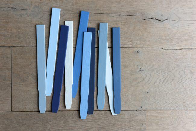 Blauw kleuren verf - flexa Denim Drift