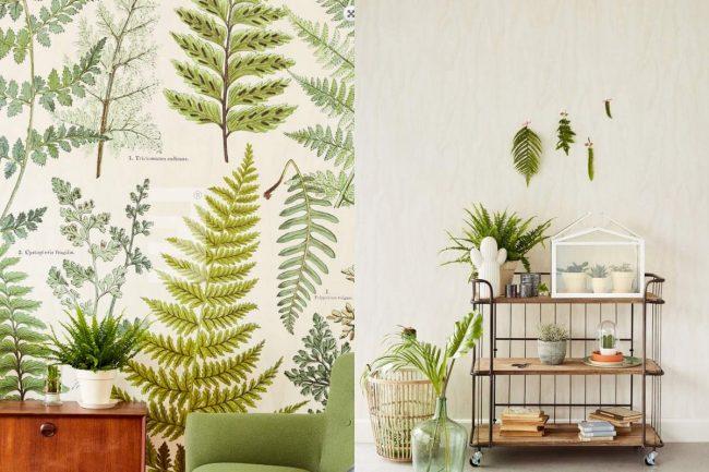 lente interieur behang botanisch