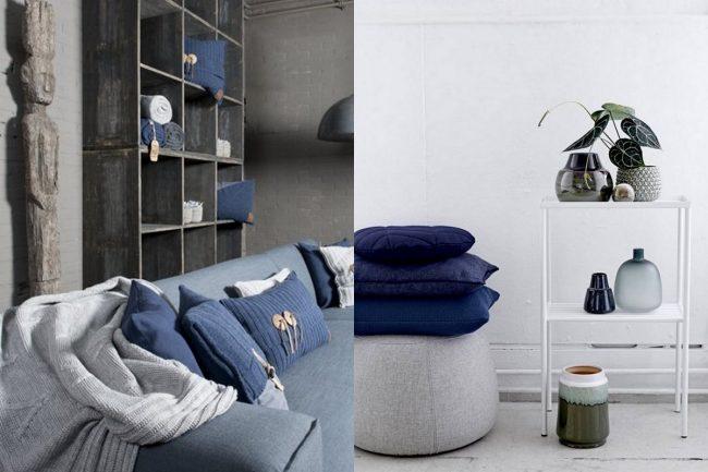 blauwe kussens interieur blog