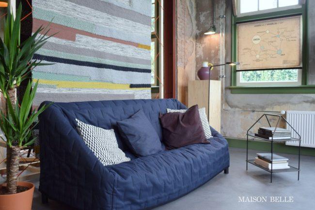 Ikea Hay bank vloerkleed tijdschrifthouder