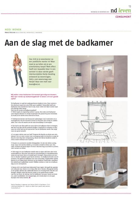 badkamer inrichten blog