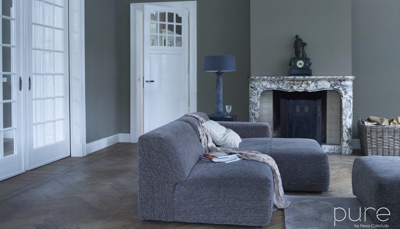 Gallery of in deze woonkamer is gebruikt gemaakt van de for Kleuren verf kiezen