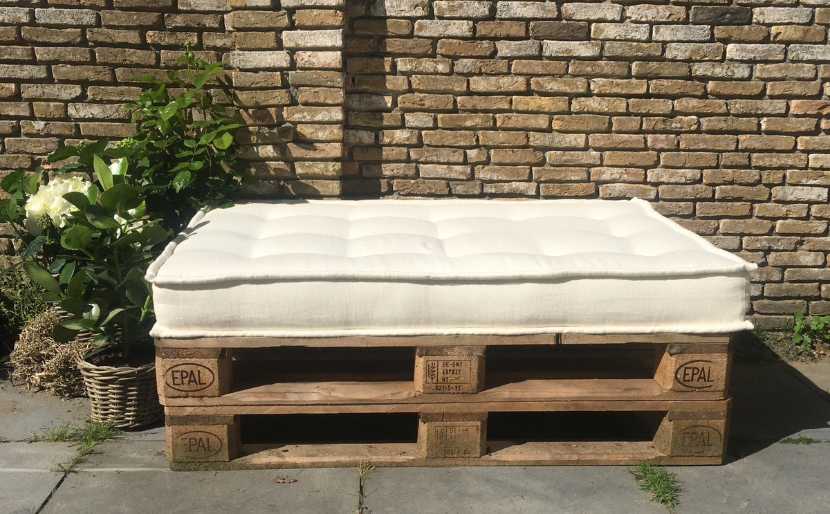 Bank Van Pallets : Loungebank maken van steigerhout en pallets video