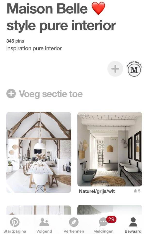 pinterest interieur app