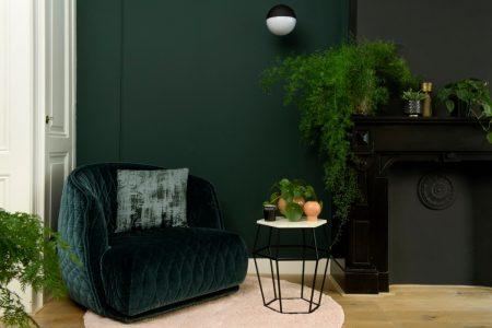 groen velours woonblog