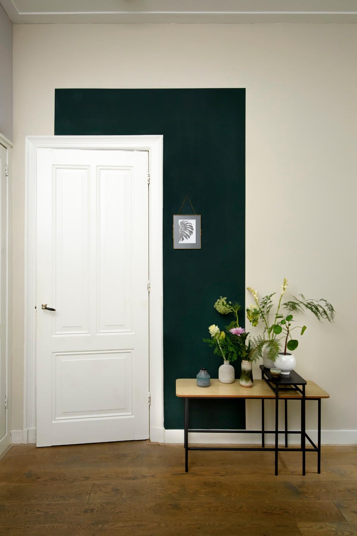 groene muur woonkamer
