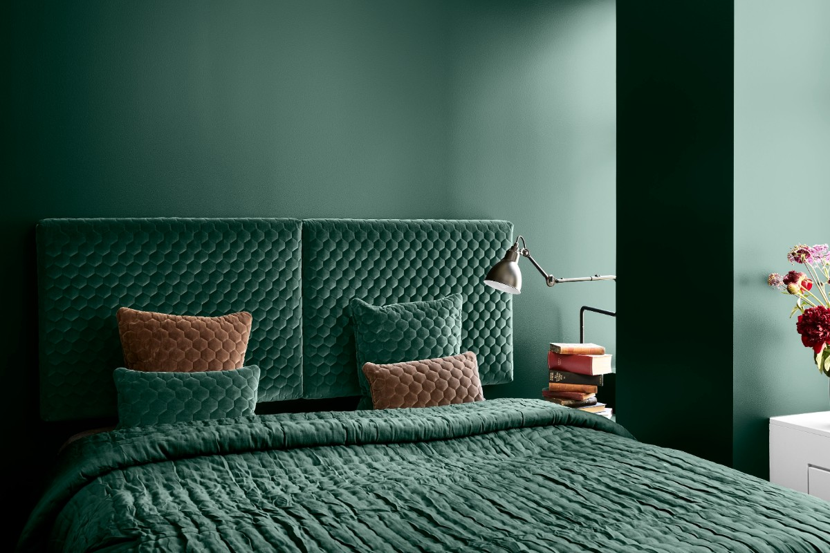 slaapkamer groen