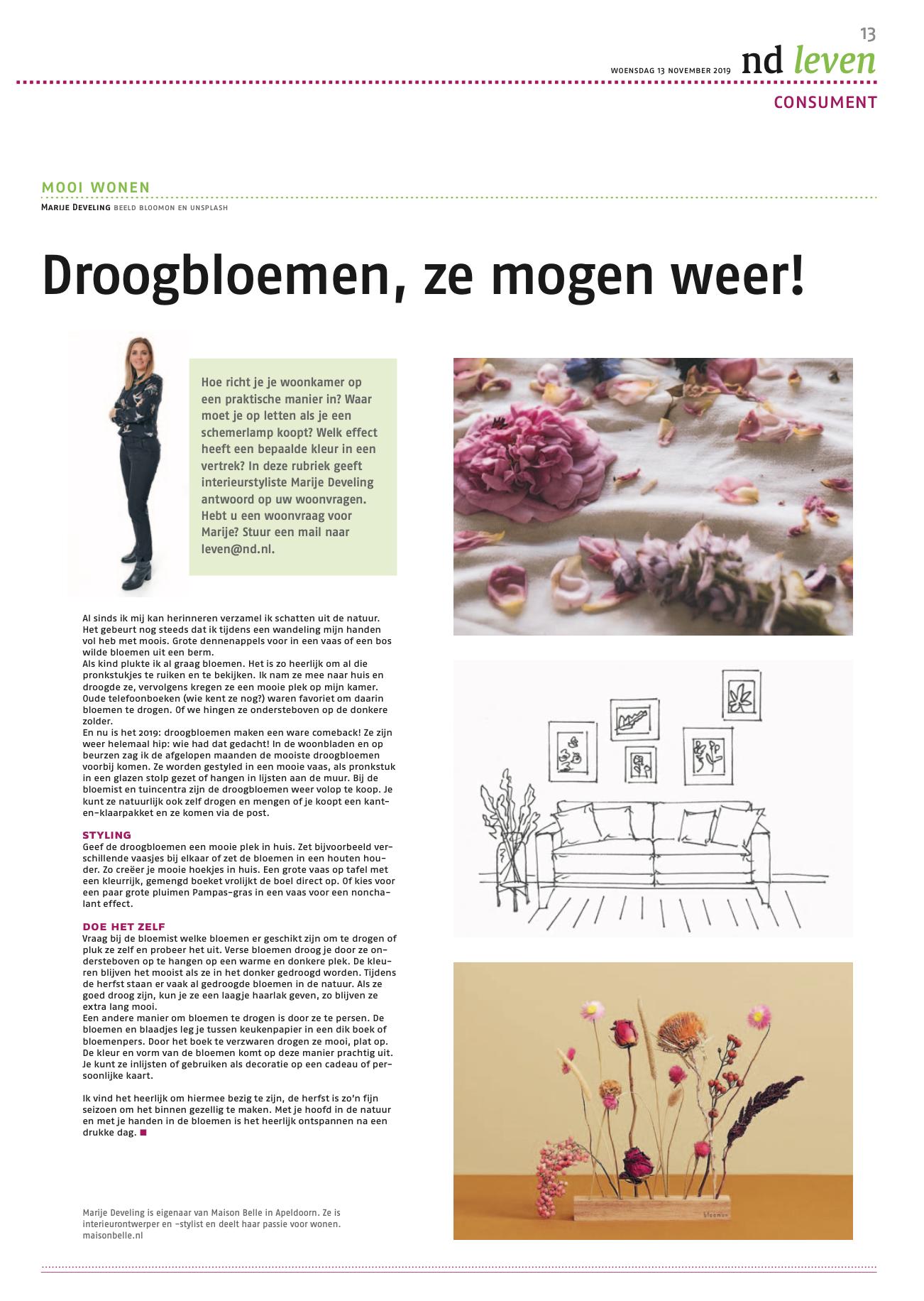 droogbloemen blog column