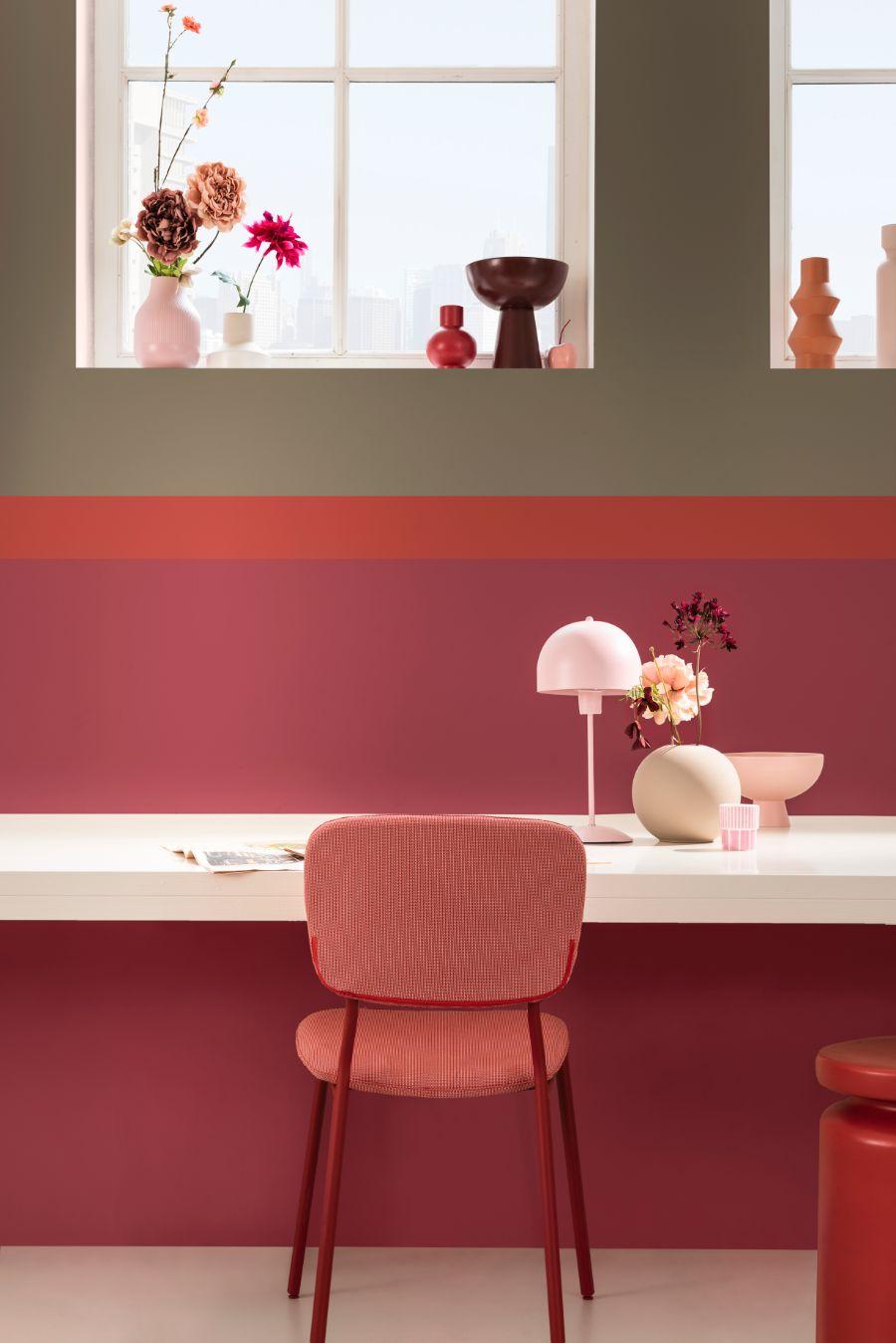 rood roze interieur